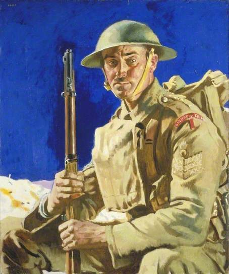 A Grenadier Guardsman by William Orpen IWM (Imperial War Museums)     Date painted: 1917     Oil on canvas, 91.4 x 76.2 cm     Collection: IWM (Imperial War Museums)