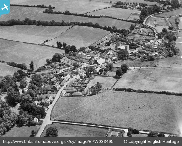 St Mary Bourne centre 1930 via English Heritage