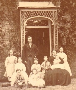 Henry and Frances Selfe in Wiltshire with children