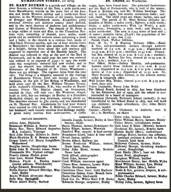 Kellys Directory 1912