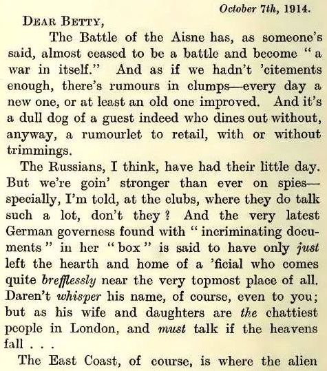 Eve 7 October 1914