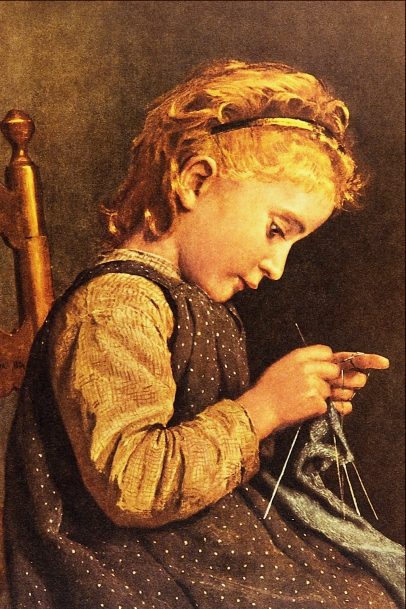 Little_Girl_Knitting_-_Albert_Anker