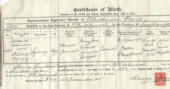 sidney gunnell birth cert 001